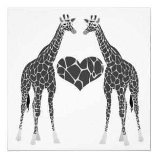Giraffe Love Wedding Reception Invitation