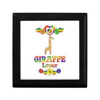 Giraffe Lover Small Square Gift Box
