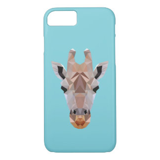 Giraffe Low Poly Blue Iphone Case
