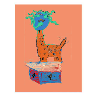 Giraffe Magic Postcard