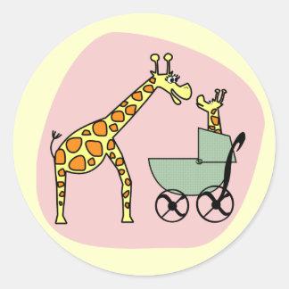 Giraffe Mom and Baby Stickers