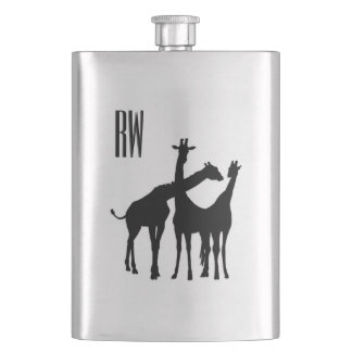 Giraffe Monogram Hip Flask