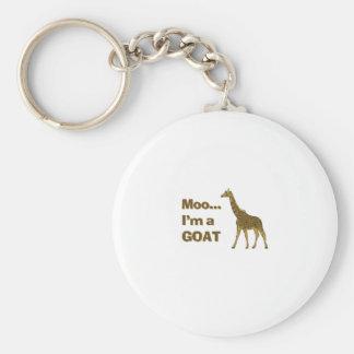 Giraffe moo I m a goat Keychain
