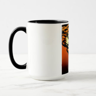 Giraffe Mother and Baby in African Sunset Mug