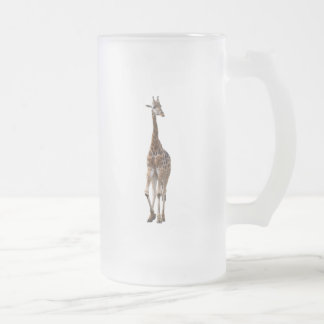 Giraffe Named Tip Top Mug..! Frosted Glass Beer Mug