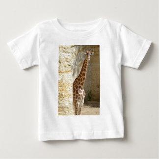 Giraffe near cliff baby T-Shirt