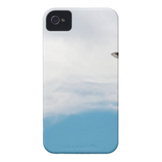 Giraffe neck and head against the clear blue sky iPhone 4 cover