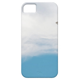 Giraffe neck and head against the clear blue sky iPhone 5 case