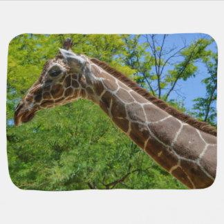 Giraffe Oil Painting Baby Blanket