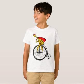 Giraffe on a bike Christmas T-Shirt