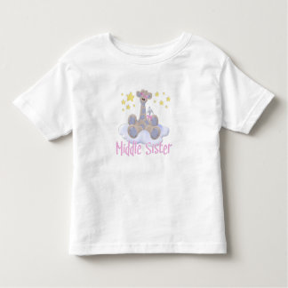 Giraffe on a Cloud Middle Sister Toddler T-Shirt