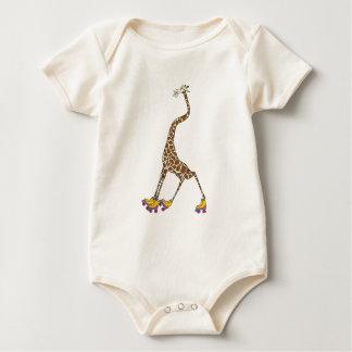 Giraffe on Skates Baby Bodysuit