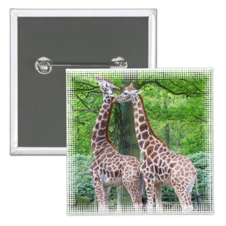Giraffe Pair Square Pin