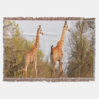 Giraffe Pair Throw Blanket