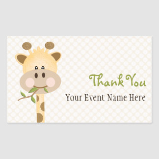 Giraffe Party Favor Label Stickers