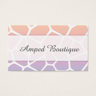 Giraffe Pastel Business Card