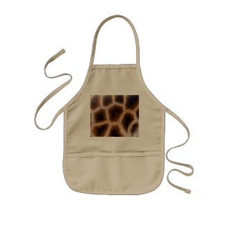 Giraffe Patches Spotted Skin Texture Template Kids Apron