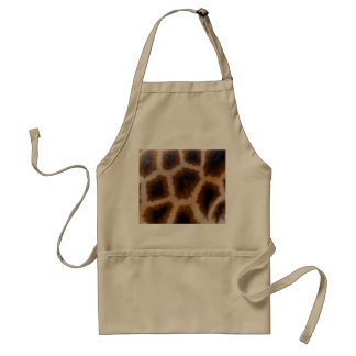 Giraffe Patches Spotted Skin Texture Template Standard Apron