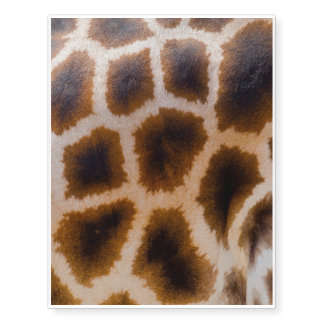 Giraffe Patches Spotted Skin Texture Template Temporary Tattoos
