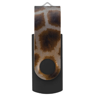 Giraffe Patches Spotted Skin Texture Template USB Flash Drive