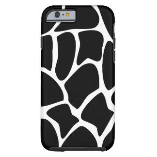 Giraffe Pattern. Animal Design, Black. Tough iPhone 6 Case