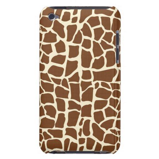 Giraffe pattern animal print iPod touch cases