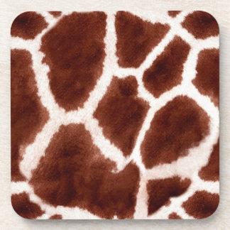 Giraffe Pattern Animal Print Beverage Coasters