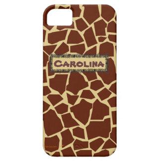 Giraffe Pattern Animal Print Custom Name iphone 5 iPhone 5 Covers