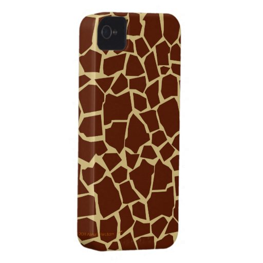 Giraffe Pattern Animal Print Fun Cover Case Skin Blackberry Bold Case