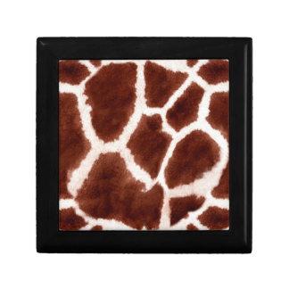 Giraffe Pattern Animal Print Small Square Gift Box