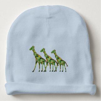 Giraffe Pattern Baby Beanie