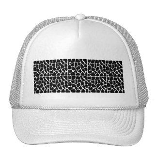 Giraffe Pattern Black & White Hats