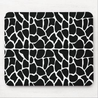 Giraffe Pattern Black & White Mousepad