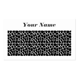 Giraffe Pattern Black & White Pack Of Standard Business Cards