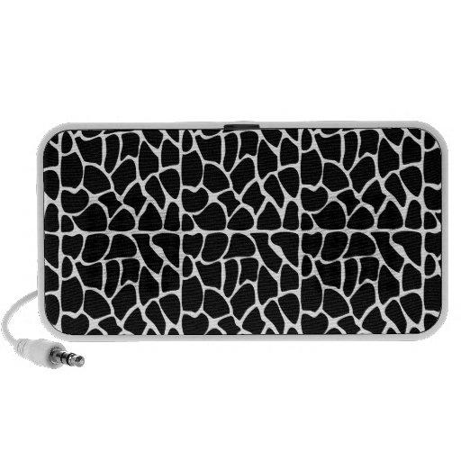 Giraffe Pattern Black & White PC Speakers