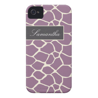 Giraffe Pattern BlackBerry Bold Case (lavender)