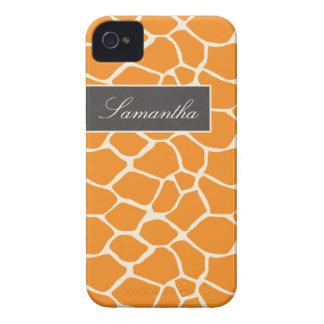 Giraffe Pattern BlackBerry Bold Case (orange)