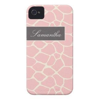 Giraffe Pattern BlackBerry Bold Case (pink)