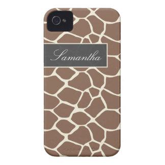 Giraffe Pattern BlackBerry Bold Case (taupe)