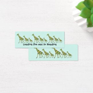 Giraffe Pattern Bookmarks Mini Business Card