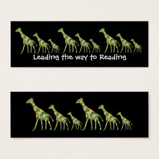 Giraffe Pattern Bookmarks Mini Business Card