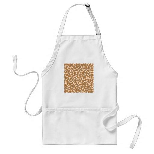 Giraffe Pattern Brown Animal Print Design. Aprons