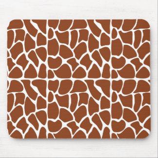 Giraffe Pattern. Brown. Mousepad