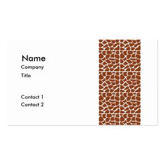 Giraffe Pattern. Brown. Pack Of Standard Business Cards
