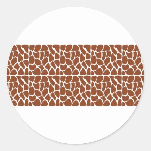 Giraffe Pattern. Brown. Stickers