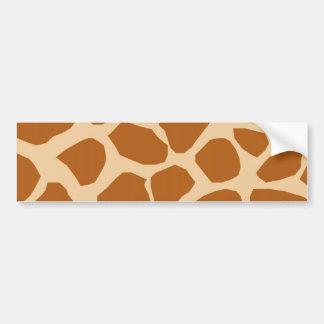 Giraffe Pattern Bumper Sticker