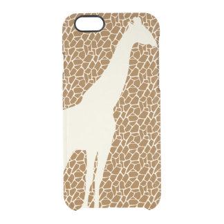 Giraffe Pattern Clear iPhone 6/6S Case
