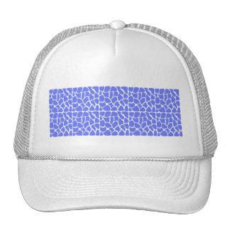 Giraffe Pattern. Cornflower Blue. Hat