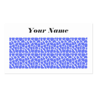 Giraffe Pattern. Cornflower Blue. Pack Of Standard Business Cards