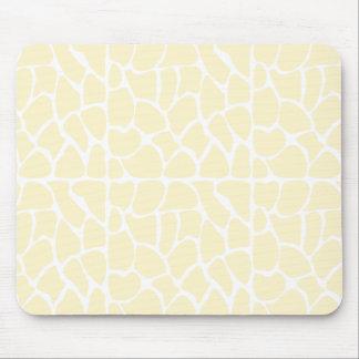 Giraffe Pattern. Cream Color Mousepads